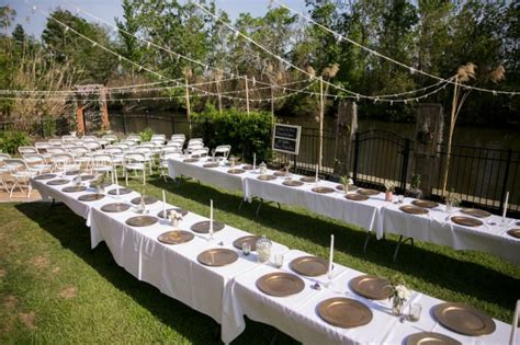 Backyard Wedding Venues by Intimate Backyard Wedding With Gold Purple And White Accents