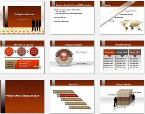 Powerpoint Gold Visiting Card Template Company Introduction Presentation Template
