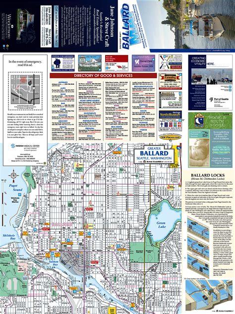 seattle map ballard ballard tourist map ballard washington mappery