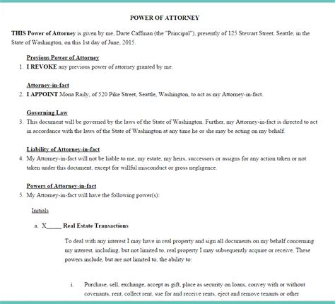 poa template free limited power of attorney templates the best free