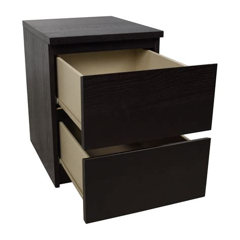 Ikea Malm Side Table 67 Ikea Ikea Malm Black Two Drawer Nightstand Tables