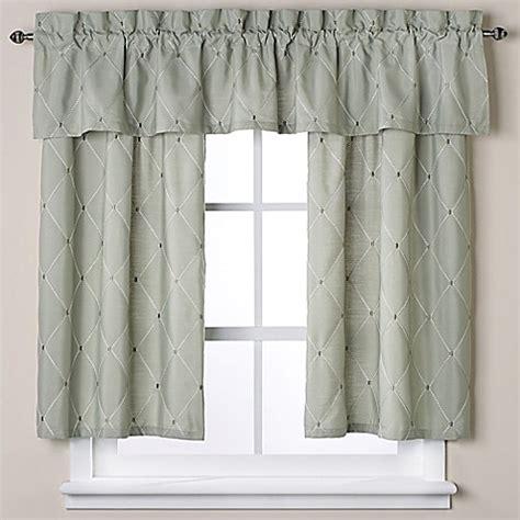 Green Bathroom Window Curtains Wellington Bath Window Curtain Valance In Green Bed Bath Beyond