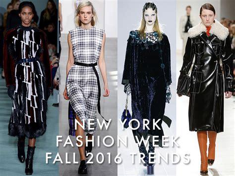 best new series fall 2016 new york fashion week fall 2016 trends plaid velvet more