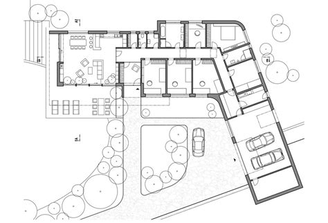 l shaped modern house plans l shaped modern house design on hillside with unusual layout home improvement