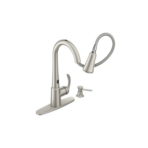 moen motionsense kitchen faucet faucet 87359e2srs in spot resist stainless by moen