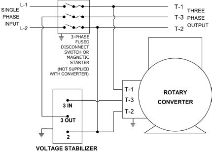 three phase to single phase converter wiring diagrams