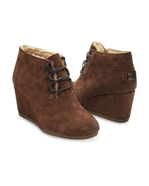 toms chocolate brown water resistant suede s desert