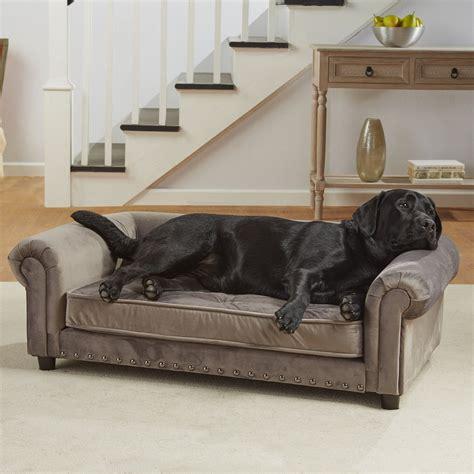 pet bed sofa enchanted home pet grey velvet manchester pet sofa petco