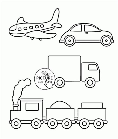 Train Car Coloring Pages Coloring Pages For Transportation Printable For Toddlers