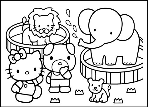 hello kitty zoo coloring pages going to the zoo coloring pages womanmate com