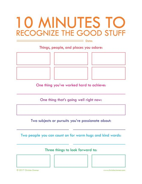 Printable Journal Pages By Christie Zimmer My Guided Journals And Printables Pinterest 5 Minute Journal Template