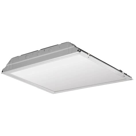 Troffer Light Fixture Lithonia Lighting 37 Watt Matte White Integrated Led Troffer Smooth Lay In Lens 2gtl2 Swl Mvolt