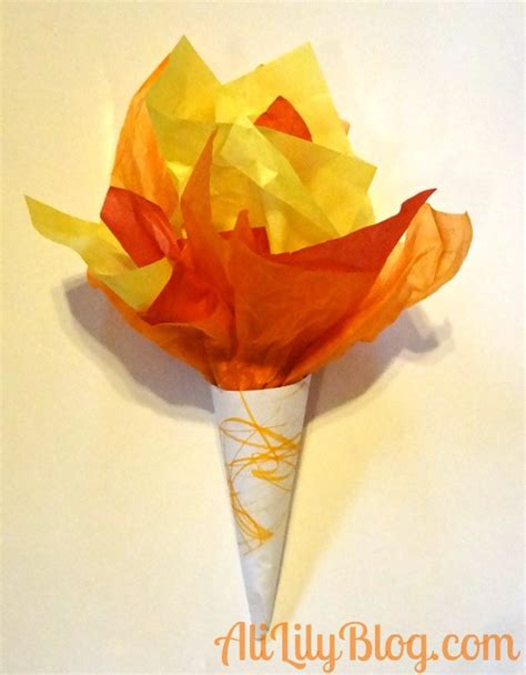 How To Make A Paper Torch - learn like a the olympics oh link picks linky