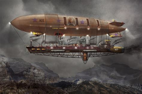 Build Your Own Home Plans by Steampunk Blimp Airship Maximus Photograph By Mike Savad