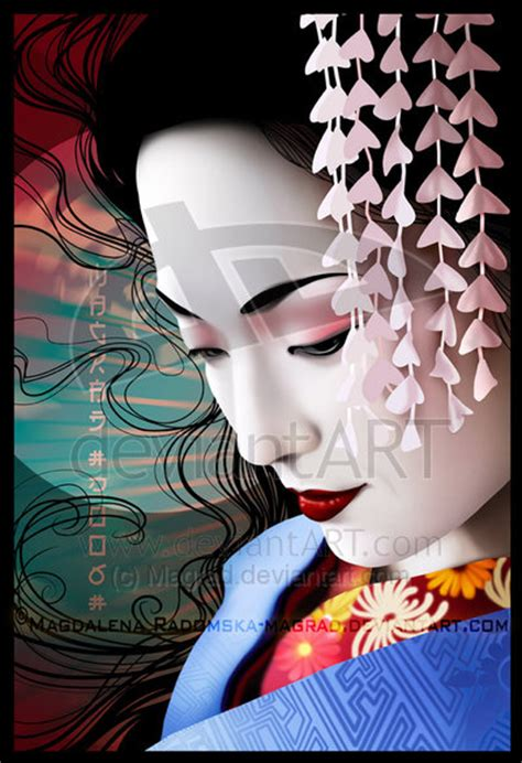 japanese geisha drawings geisha by magrad on deviantart
