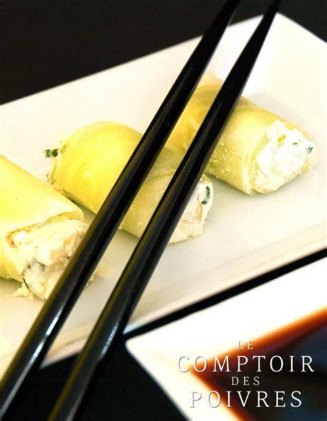 rouleaux de concombre ch 232 vre et poivre blanc de kot