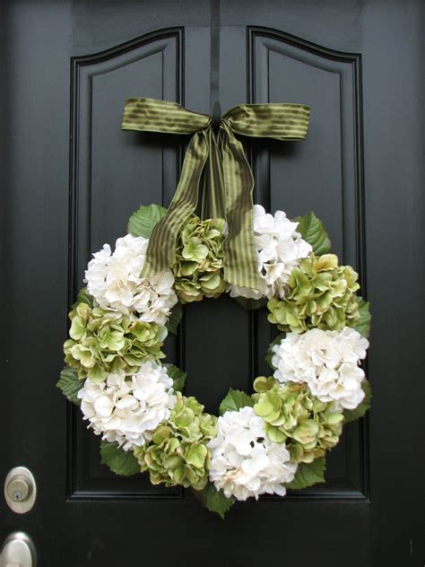 home and living wreaths hydrangea wreath by