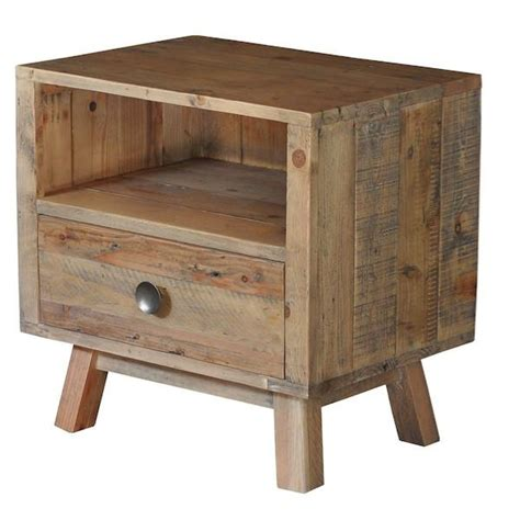 reclaimed wood side table rustic wooden side table
