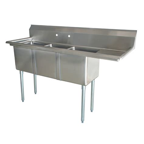 used 3 compartment sink sink three compartment right drainboard prep sinks