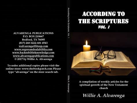 according to the scriptures the of in the testament and the new books according to the scriptures vol 1 by willie alvarenga