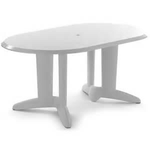 Plastic Patio Tables Evolutif Ascot Lacquered Plastic Oval Table M 42 003 Plasticfurniturechairs