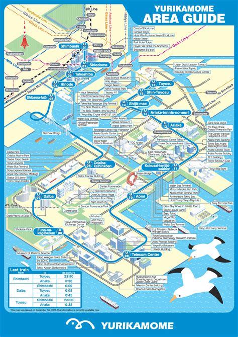 lines map tokyo yurikamome line map