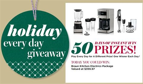 Everyday Giveaway - holiday every day giveaway sweepstakesbible