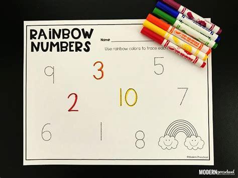 printable rainbow numbers rainbow tracing numbers printable 1 20