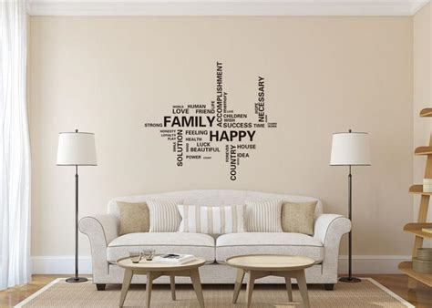 family happy home decor creative quote wall decal