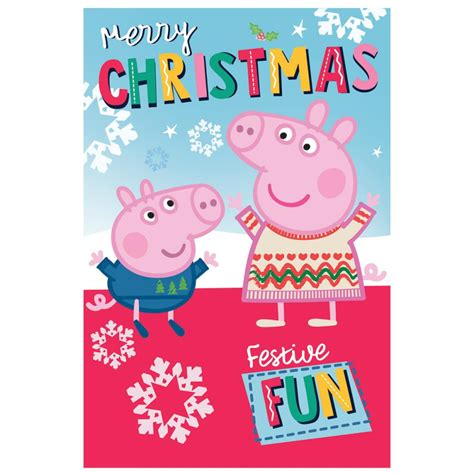 merry christmas peppa pig christmas card  character brands