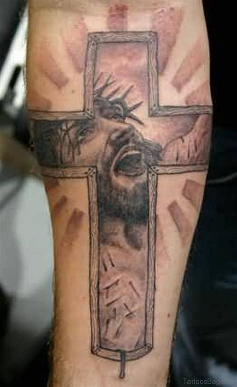 tattoo designs jesus cross 55 antic cross tattoos for leg