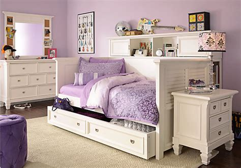 belmar white 7 pc daybed bedroom bedroom sets