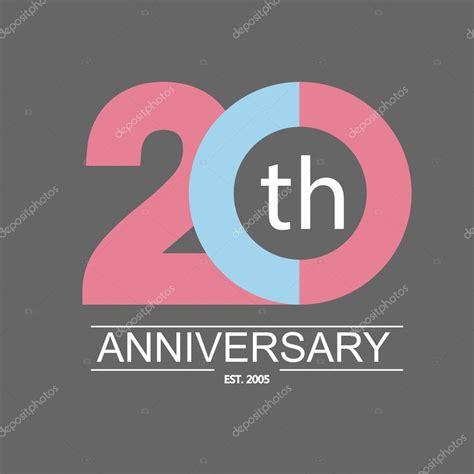 20th anniversary color 20 anniversary icon stock vector 169 gaisonok 91125744