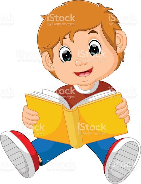 imagenes de niños leyendo y escribiendo ni 241 o leyendo libro illustracion libre de derechos