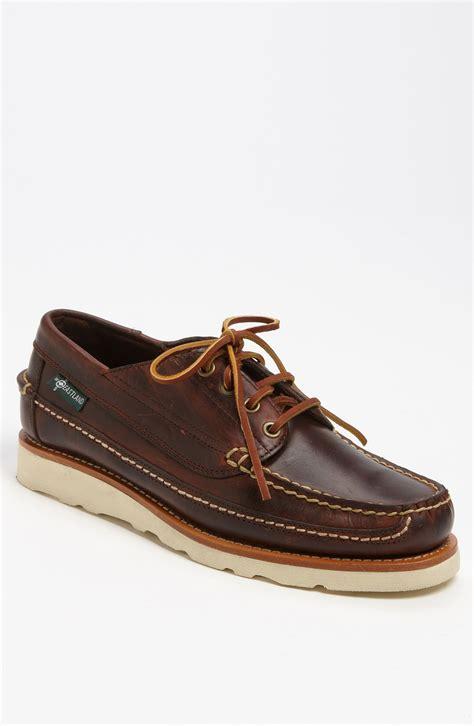 eastland shoes eastland stoneham boat shoe in brown for chestnut lyst