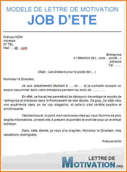 Lettre De Motivation Vendeuse Etudiant 9 Lettre De Motivation 233 Tudiant Lettre De Demission