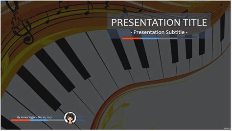 music powerpoint template free 4931 free music