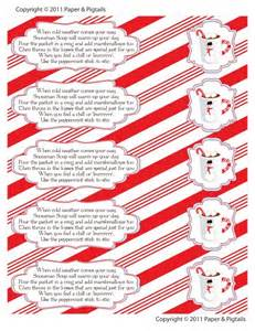 Instant download snowman soup treat bag toppers holiday favor labels