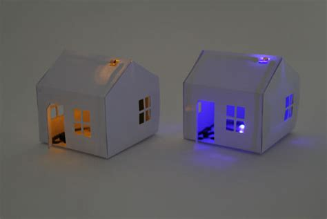 How To Make A Paper Lighter - a paper house that lights up as it gets