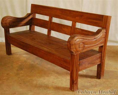 Furniture Antik Kursi Sofa Bangku Kayu Jati Dari Prau Dan Luku G 9 bangku klasik kayu jati jepara bangku antik kayu jati