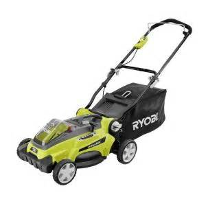 battery powered lawn mower home depot ryobi 16 in 40 volt lithium ion cordless walk lawn