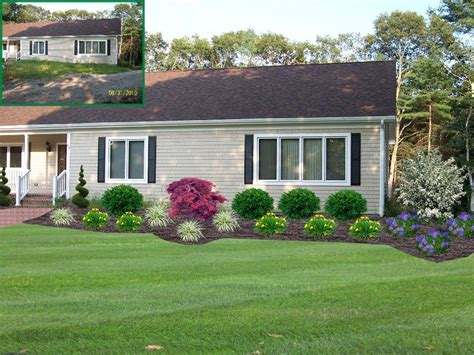 home yard design colonial home front yard landscape design lakeville ma