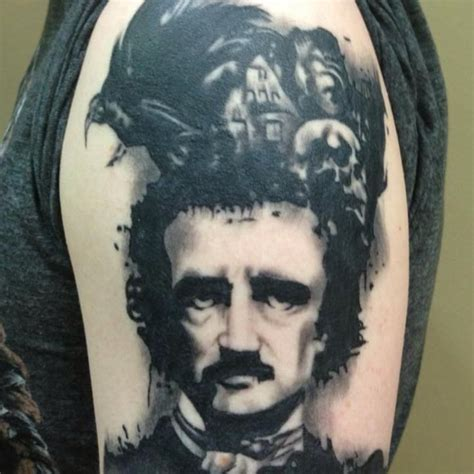 edgar allan poe tattoo 545 best images about tattoos on the skulls