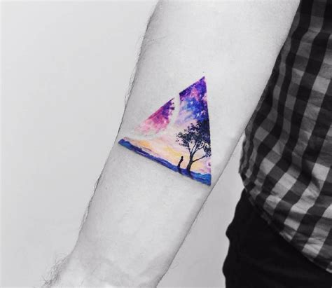 watercolor tattoo vermont triangular surreal watercolor by vitaly kazantsev