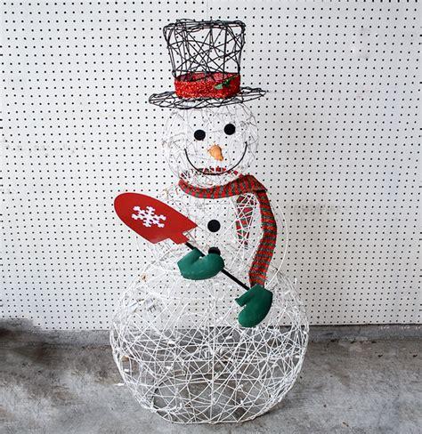 light up snowman outdoor outdoor wire frame light up snowman ebth