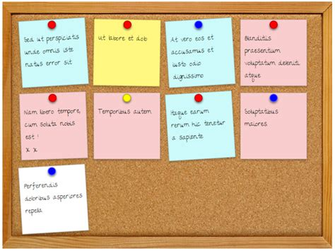 Message Board css3 cork board with sticky notes s retreat