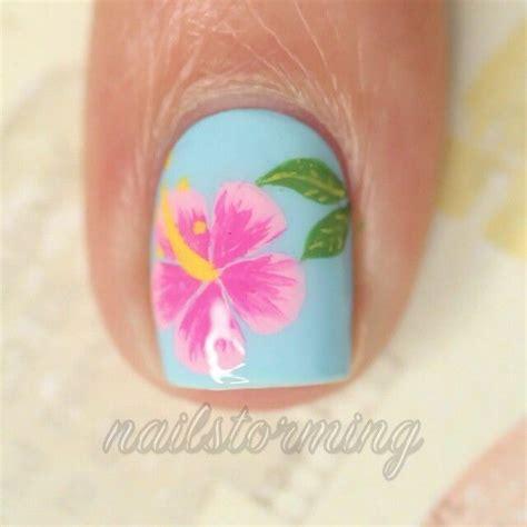hibiscus nail art tutorial best 20 hibiscus nail art ideas on pinterest tropical