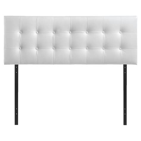 Button Tufted Headboard Emily Leatherette Headboard Button Tufted White Dcg Stores