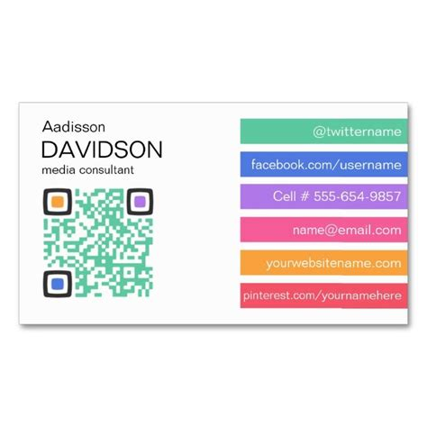 4 bar card template 17 best images about qr code business card templates on