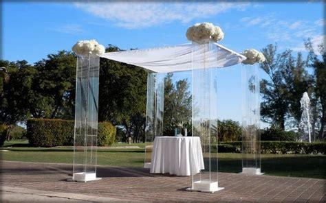 Wedding Arch Rental Miami by Arcdivine Miami Acrylic Chuppah Wedding Canopy Arch